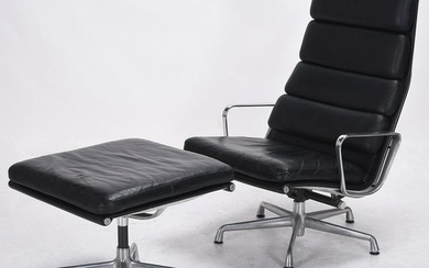Charles and Ray Eames 438 Lounge Chair and 423 Ottoman.