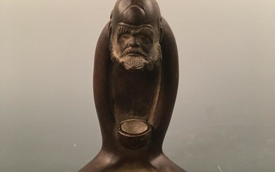 Chinese Purple Ceramic Luohan Figure