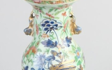 Chinese porcelain vase with bird of paradise / insects