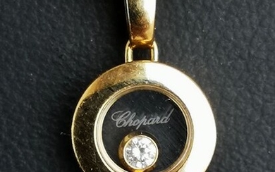 Chopard - 18 kt. Yellow gold - Necklace with pendant - 0.03 ct Diamond