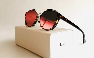 Christian Dior - DIORABSTRACT *Limited ed. , Mirrored Multi-colored lenses / neon pink red yellow Sunglasses