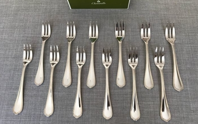 Christofle modèle Spatour- Cake forks (12) - Silver plated