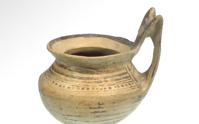 DaunianTerracottaPainted Pottery Jar with High Strap Handle