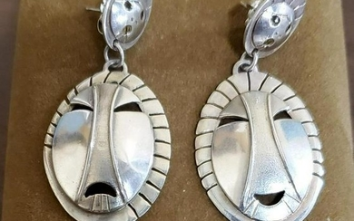 Denise Wallace Signed Native American Earrings