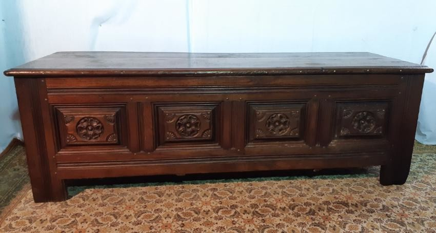 EARLY 19TH C. PROVINCIAL FRENCH CHESTNUT COFER