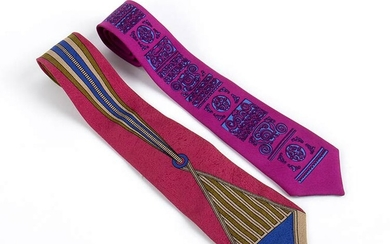 GIANNI VERSACE AND FERNANDA GATTINONI 2 SILK TIES 60s /...