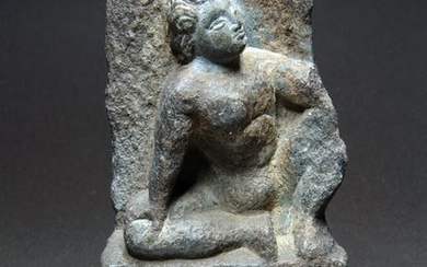 Gandhara Stone Relief, Seated Youth