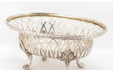 George III pierced silver basket by William Pitts and Joseph...