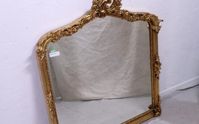 Gold French Style Over Mantle Mirror