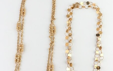 Gold-Tone Necklaces incl. JBK, Group of 2