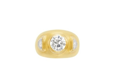 Gold and Diamond Gypsy Ring