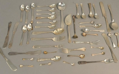 Group of sterling silver flatware. 22.8 t.oz.