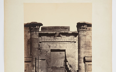 HAMMERSCHMIDT, WILHELM (fl. 1860) Group of photographs of Egyptian antiquities (Thebes, Gyzeh) on publisher's mounts.