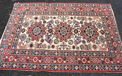 Hand Knotted Oriental Tribal Motif Carpet