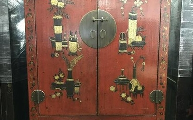 Hand Made Hand Painted Asian Cabinet