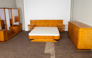 Humbert Meubles, bedroom suite, wood, Voiron Isere, France
