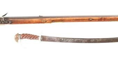 IMPORTANT KENTUCKY RIFLE AND EAGLE-HEAD SABER, BOTH BY