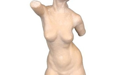 IVORY ARMLESS WOMAN REACHING SCULPTURE 24""