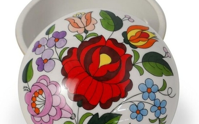 Kalocsa Hand Painted Porcelain Bowl