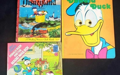 Lot of 3 Vintage Donald Duck Childrens Books