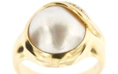 Made in Italy - 18 kt. Yellow gold - Ring - Diamonds