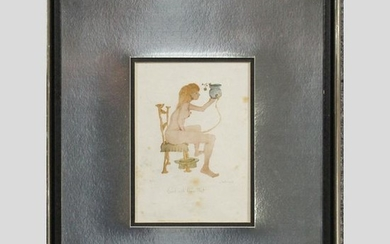 Mitchell, #16/25 Seated Nude Woman, Girl With Green Hat