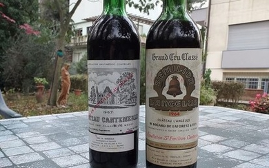 Mixed lot - 1964 Chateau l'Angelus & 1967 Chateau Cantemerle - Haut-Médoc, Saint-Emilion Grand Cru Classé - 2 Bottles (0.75L)