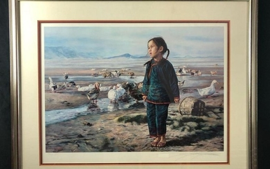 Morning In The Winter Artist Proof Lithograph by Wai
