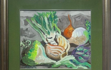 Oil paint on canvas depicting still life, Carlo Levi