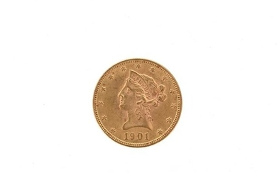 One US 10 dollar gold coin Liberty Head