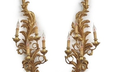 PAIR OF LOUIS STYLE SCONCES XV