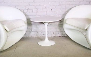 Pair of Earo Aarnio Curved Chairs And Side Table