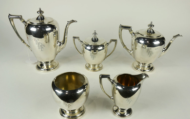 Reed and Barton sterling five pc hot beverage service