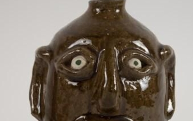 Reggie Meaders, Georgia Stoneware Face Jug