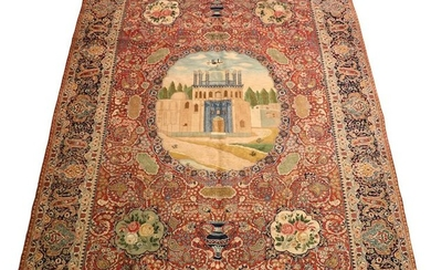 SEMI ANTIQUE VERY FINE TABRIZ WOOL RUG, 1930/40