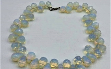 Sabino Opalescent Glass Bead Necklace, Paris, France