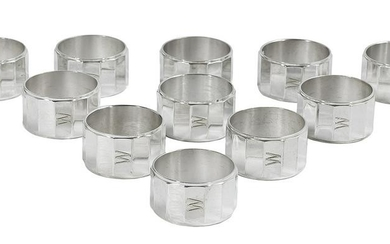 Set of Eleven Christofle Silverplate Napkin Rings