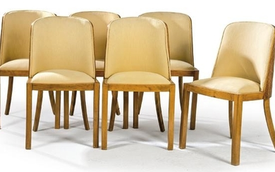 Set of six dining chairs,