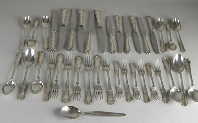 Silver cutlery, 800/000, 6 persons, with table forks