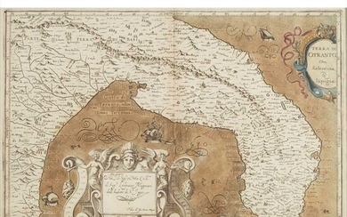 Six hand-coloured maps of Southern Italy, The Black Sea and Europe, including Ortelius, Abraham