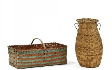 Two Large Antique Baskets