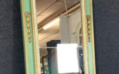 Very large Louis XVI style pier glass in lacquered and gilded wood - Wood - 1900