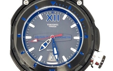 Visconti - Abyssus Full Dive 1000 Gun Grey Blue Canvas/ Reverse Leather Strap- KW51-02 - Men - BRAND NEW