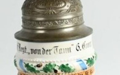 WW1 IMPERIAL GERMAN REGIMENTAL STEIN 11TH BAVARIAN