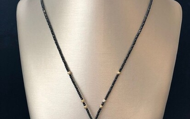10.5mm - 15mm White and Gold South Sea and Grey Tahitian Pearl Lariat Necklace