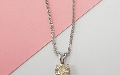 14 kt. White gold - Necklace with pendant - 0.55 ct Diamond