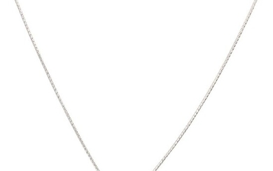 14 kt. White gold - Necklace with pendant - 1.20 ct Diamond