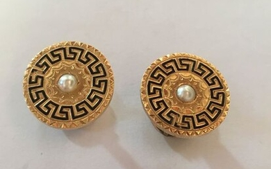 18 kt. Pink gold, Yellow gold - Cufflinks Mixed
