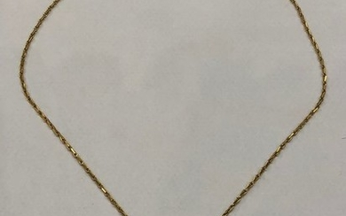 18 kt. Yellow gold - Necklace with pendant Diamond - Sapphire, Turquoise
