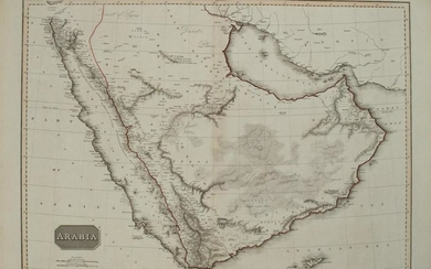 1813 Pinkerton Map of the Arabian Peninsula and the Red